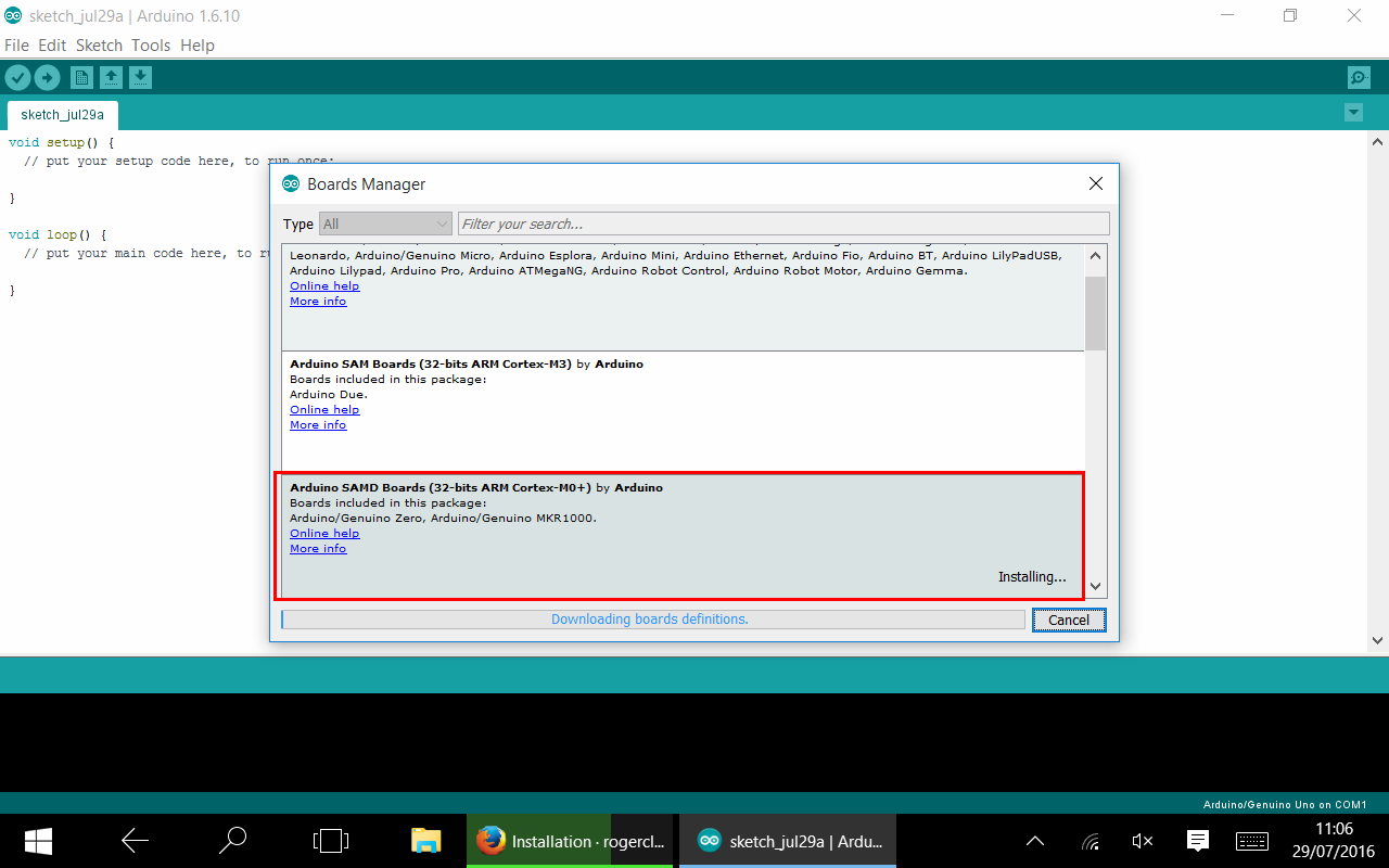 STM32 en Arduino IDE 02 - Boards Manager Cortex M0.png