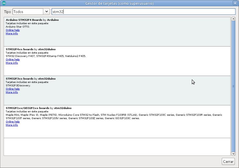 Microcontroladores basados en STM32: Configuración Arduino IDE y